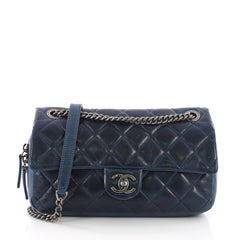 Chanel Duo Color Flap Bag Quilted Aged Calfskin Medium 375287