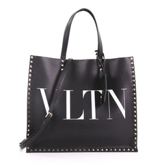 Valentino VLTN Convertible Rockstud Tote Printed Leather 375311