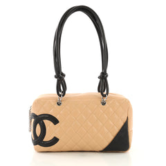 Chanel Cambon Bowler Bag Quilted Leather Medium 375622