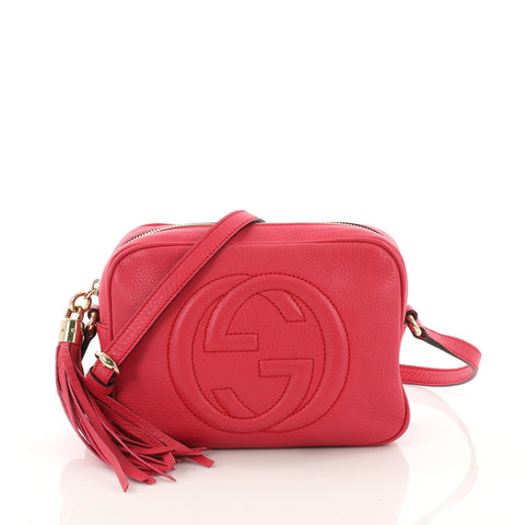 a83e29f7c5dcaf Gucci Soho Disco Crossbody Bag Leather Small Pink 3757325 – Rebag