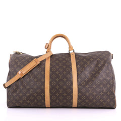 Louis Vuitton Model: Keepall Bandouliere Bag Monogram Canvas 60 Brown 37573/46