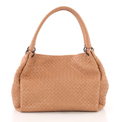 Bottega Veneta Parachute Handbag Intrecciato Nappa Medium Neutral 3757348