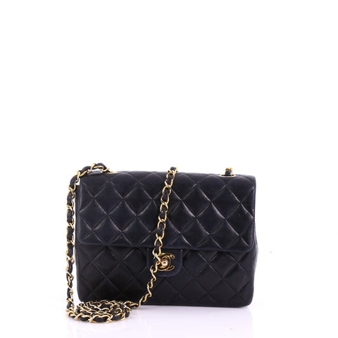 d92dfb62e25d53 Chanel Vintage Square Classic Flap Bag Quilted Lambskin 375933 – Rebag