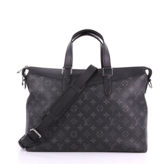 Louis Vuitton Explorer Briefcase Monogram Eclipse Canvas Black 376051