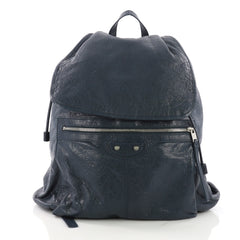 Balenciaga Classic Traveler S Backpack Leather Blue 376097