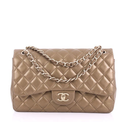 Chanel Classic Double Flap Bag Quilted Lambskin Jumbo 376152