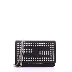 Wallet on Chain Studded Leather