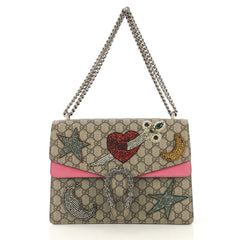 Dionysus Handbag Embellished GG Coated Canvas Medium