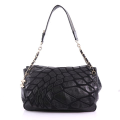 Chanel Scales Accordion Flap Bag Leather with Jersey 3767301