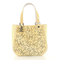 Chanel CC No.5 Shopping Tote Perforated Patent Medium 3767303