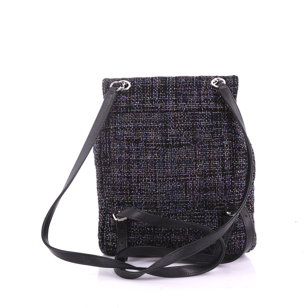 a1e9764758a1 Chanel Urban Spirit Backpack Quilted Tweed Small Black 3769054 – Rebag
