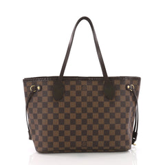 Louis Vuitton Neverfull Tote Damier PM Brown 376946