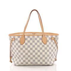 Louis Vuitton Neverfull Tote Damier PM White 377033