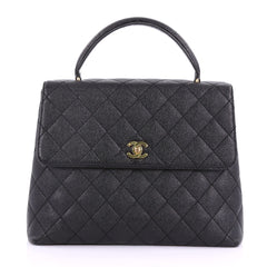 Chanel Vintage Classic Top Handle Flap Bag Quilted 37708118
