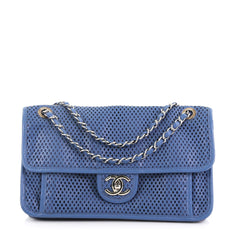 Chanel Up In The Air Flap Bag Perforated Leather Medium 3770819