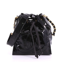 Chanel Vintage Drawstring CC Bucket Bag Patent 3771013