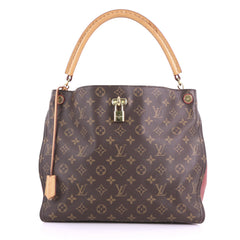 Louis Vuitton Model: Gaia Handbag Monogram Canvas Brown 37719/29