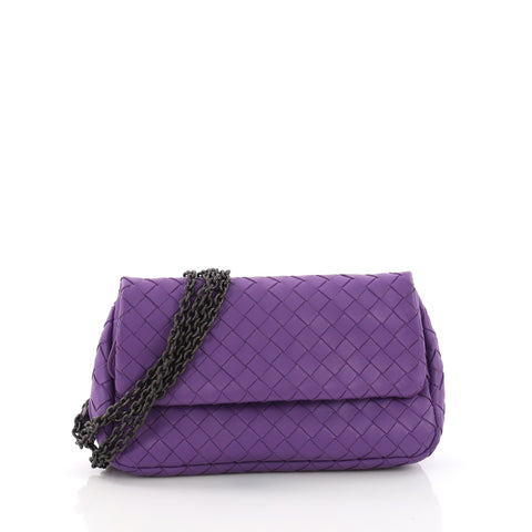 01245cb6bb Bottega Veneta Expandable Chain Crossbody Bag Intrecciato 377231 – Rebag