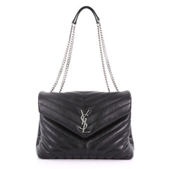 Saint Laurent LouLou Shoulder Bag Matelasse Chevron 377241