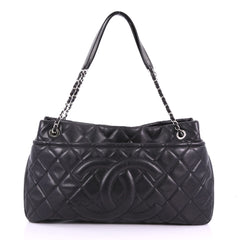 Chanel Timeless CC Soft Tote Quilted Caviar Large Black 377281