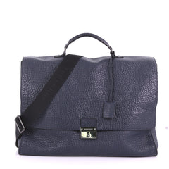 Burberry Sandgate Briefcase Heritage Grained Leather Blue 377472