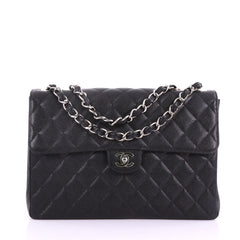 Chanel Vintage Square Classic Single Flap Bag Quilted 377475