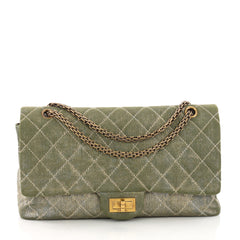 Chanel Reissue 2.55 Handbag Quilted Metallic Fabric 227 3774824