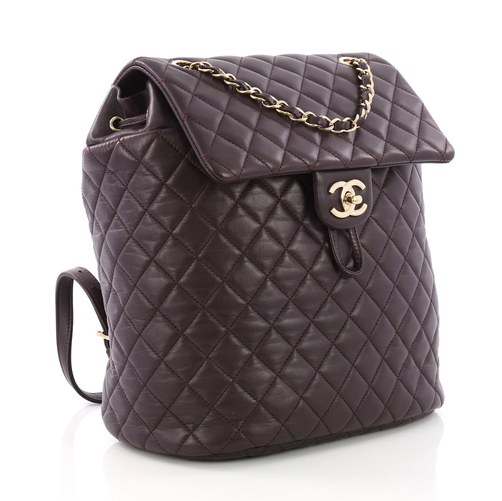 Chanel Urban Spirit Backpack Quilted Lambskin Large 377486