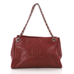 Chanel On The Bund Tote Calfskin Large Red 377601