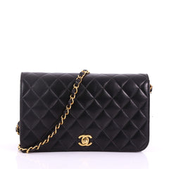 Chanel Vintage Full Flap Bag Quilted Lambskin Medium 377771