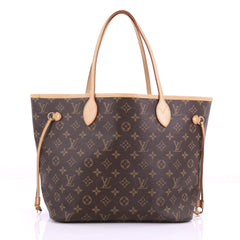 Louis Vuitton Neverfull Tote Monogram Canvas MM Brown 3782919