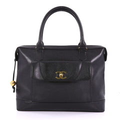 Chanel Vintage CC Front Pocket Briefcase Caviar Black 3782926