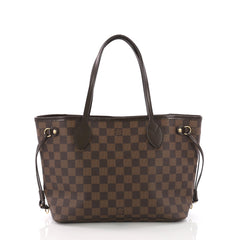 Louis Vuitton Neverfull Tote Damier PM Brown 378297