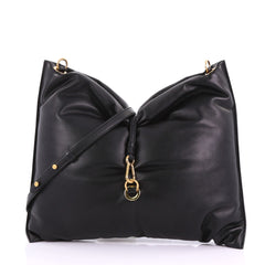 Stella McCartney Bubble Hobo Bag Faux Leather Large Black 378621