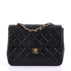 Chanel Vintage Square Classic Flap Bag Quilted Lambskin 378666