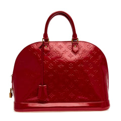 Alma Handbag Monogram Vernis Leather GM