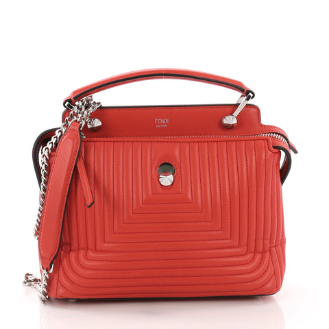 Fendi DotCom Click Top Handle Bag Quilted Leather Small Red 3792163 – Rebag 3ddc4e4099a63