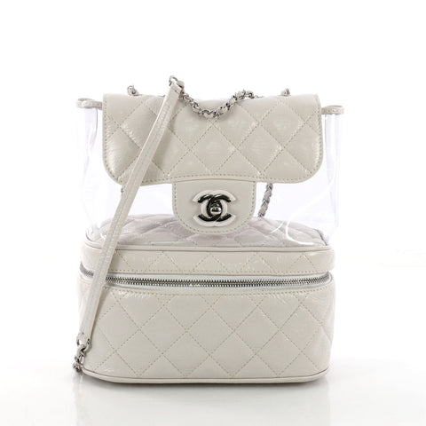 c23196e7b2ce Buy Chanel Zip Around Flap Backpack Quilted Crumpled Calfskin 379354 – Rebag