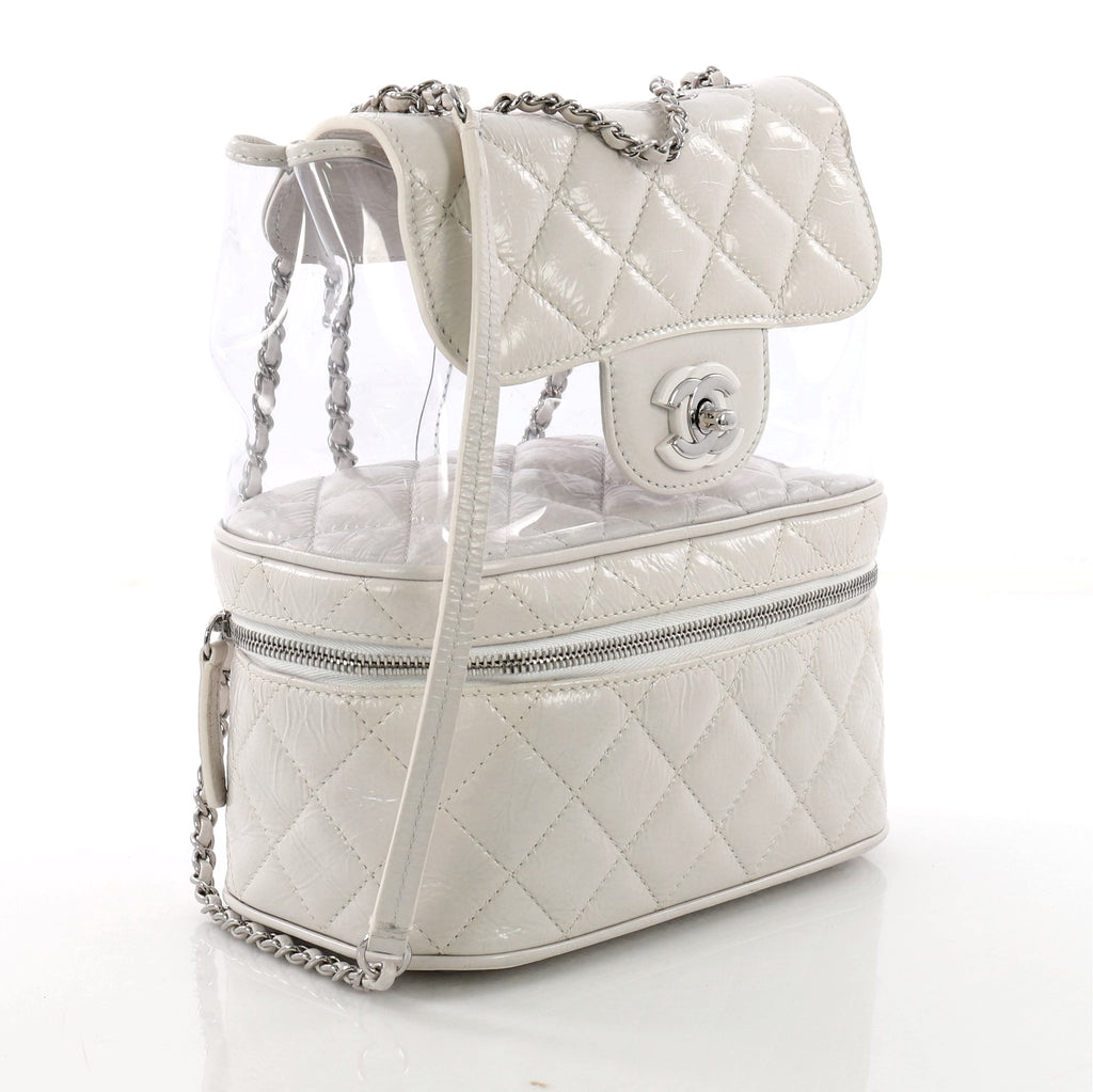 4e6e4cffe9c4 Buy Chanel Zip Around Flap Backpack Quilted Crumpled Calfskin 379354 ...