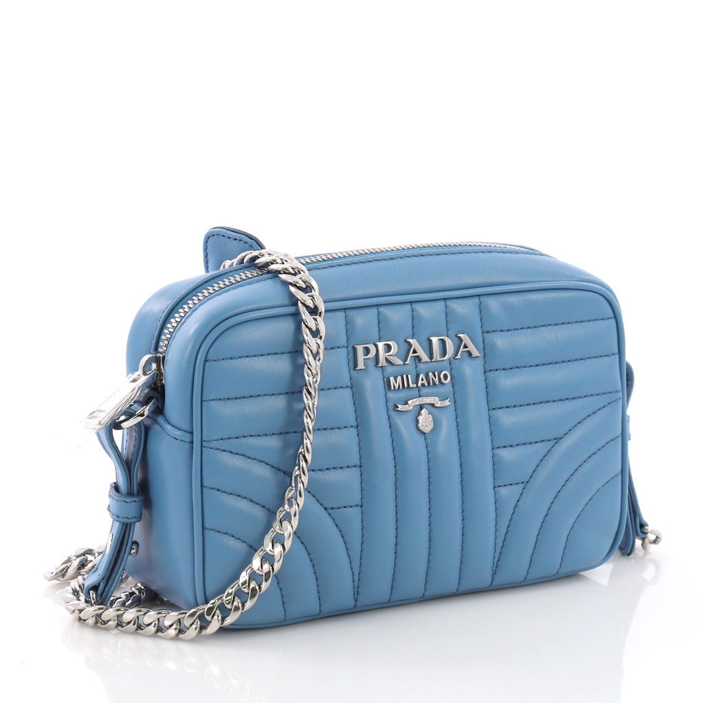 034bfef00d0c Prada Camera Bag Diagramme Quilted Leather Small Blue 3793557 – Rebag