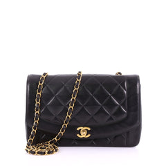 Chanel Vintage Diana Flap Bag Quilted Lambskin Small 3794320