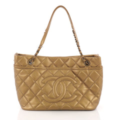 Chanel Timeless CC Soft Tote Quilted Caviar Medium Gold 3794321