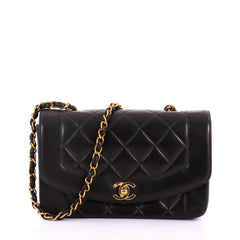 Chanel Vintage Diana Flap Bag Quilted Lambskin Small 3794333