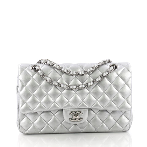 426df8e97986 Chanel Classic Double Flap Bag Quilted Lambskin Medium 379461 – Rebag