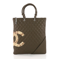 Chanel Cambon Flat Tote Quilted Leather