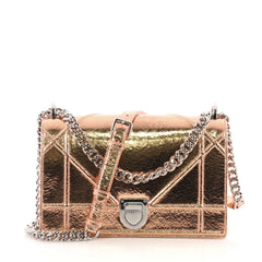 Christian Dior Diorama Flap Bag Crackled Deerskin Medium - Rebag