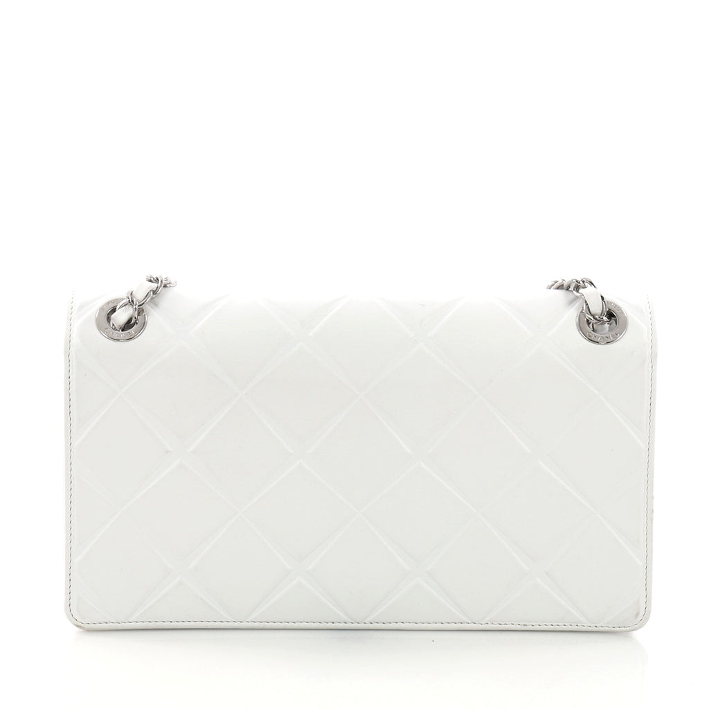 102feab14edb Chanel Propeller Flap Bag Quilted Calfskin Small White 3803612 – Rebag