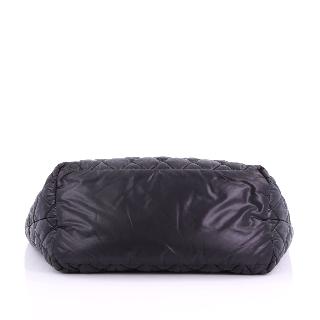 5f5961d6bda192 Chanel Coco Cocoon Reversible Tote Quilted Nylon Small Black 380394 ...