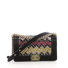 Chanel Model: Mosaic Boy Flap Bag Embellished Lambskin Old Medium Black 38048/1