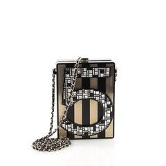 Chanel Model: No. 5 Minaudiere Embellished Plexiglass Black 38048/7